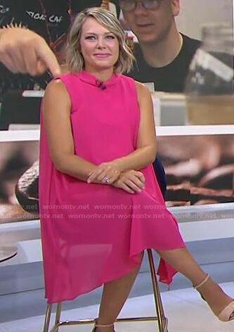 Dylan's pink sleeveless chiffon dress on Today