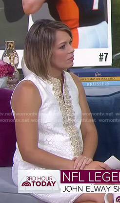 Dylan's white embroidered shift dress on Today