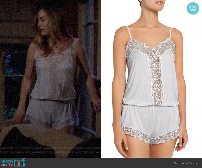 Eberjey Colette Dreamer Romper worn by Hope Logan (Annika Noelle) on The Bold & the Beautiful