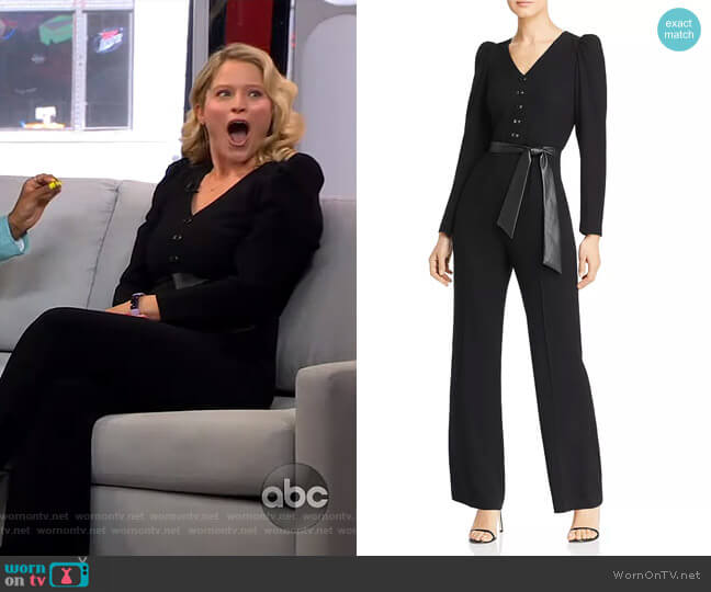 Campbell Belted Jumpsuit by Elie Tahari worn by Sara Haines  on Good Morning America