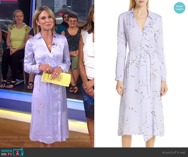 Fabienne Dress by Equipment worn by Amy Robach  on Good Morning America