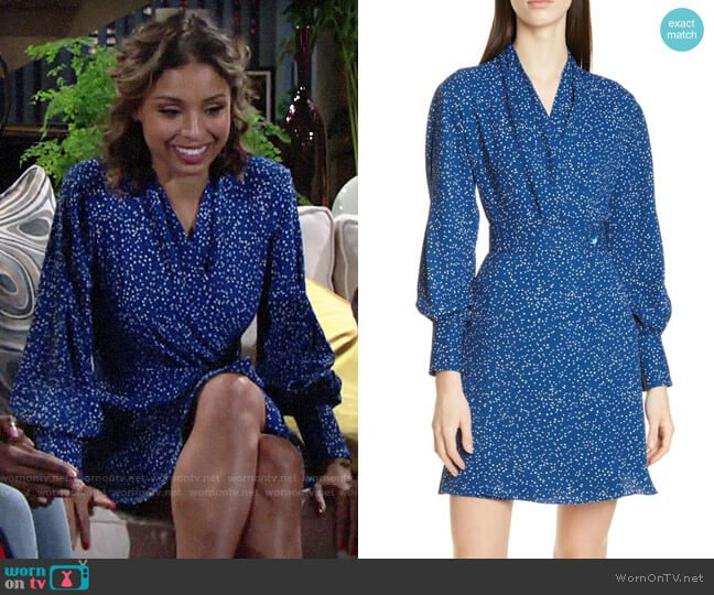 Equipment Fanetta Dress worn by Elena Dawson (Brytni Sarpy) on The Young & the Restless