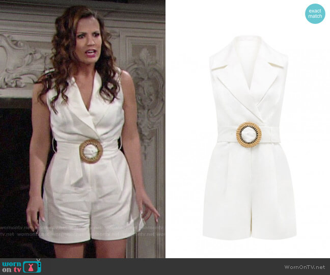 Ever New Cleo Romper worn by Chelsea Lawson (Melissa Claire Egan) on The Young & the Restless