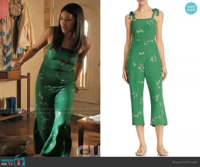 Faithfull the Brand Elsa Jumpsuit worn by Jane Villanueva (Gina Rodriguez) on Jane the Virgin