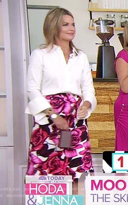 Savannah's floral print skirt on Today
