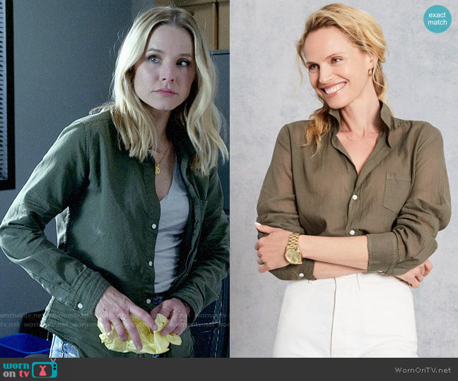 Frank & Eileen Barry Shirt in Army Shirt worn by Veronica Mars (Kristen Bell) on Veronica Mars