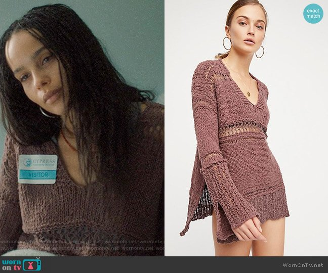 Free People Belong To You Sweater worn by Bonnie Carlson (Zoë Kravitz) on Big Little Lies