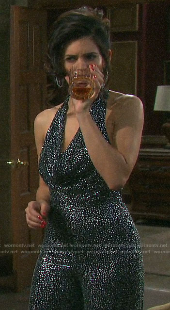 Gabi's wedding jumpsuit on Days of our Lives