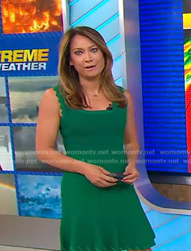 Ginger's green dress on Good Morning America