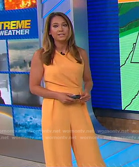 Ginger's yellow jumpsuit on Good Morning America