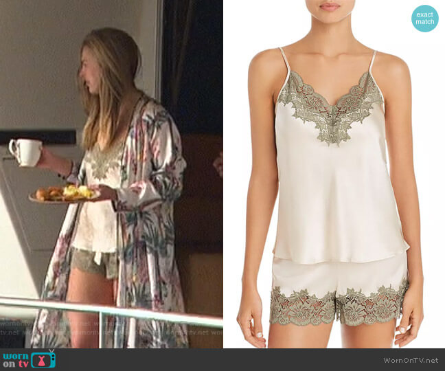 Pick & Mix Lace Cami and Shorts by Ginia worn by Hannah Brown  on The Bachelorette