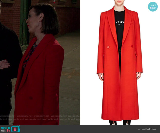 Wool Double Breasted Coat by Givenchy worn by Diana Trout (Miriam Shor) on Younger