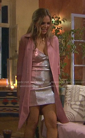 Hannah's metallic mini dress on The Bachelorette