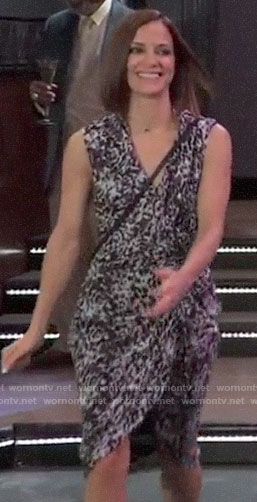 Hayden's ruffled leopard print dress on General Hospital