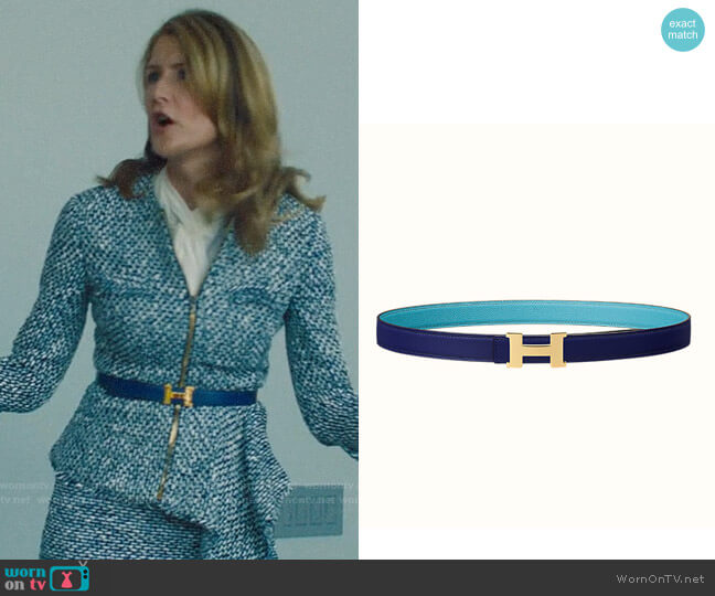 Hermes Logo Belt worn by Renata Klein (Laura Dern) on Big Little Lies