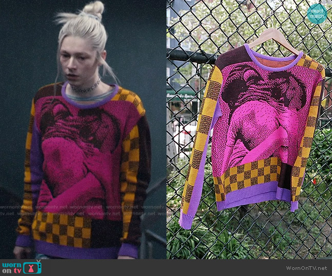 Iggy Streetwise Sweater worn by Jules Vaughn (Hunter Schafer) on Euphoria