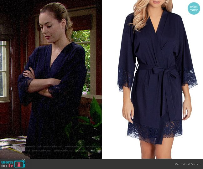In Bloom by Jonquil Jersey Wrap worn by Hope Logan (Annika Noelle) on The Bold & the Beautiful