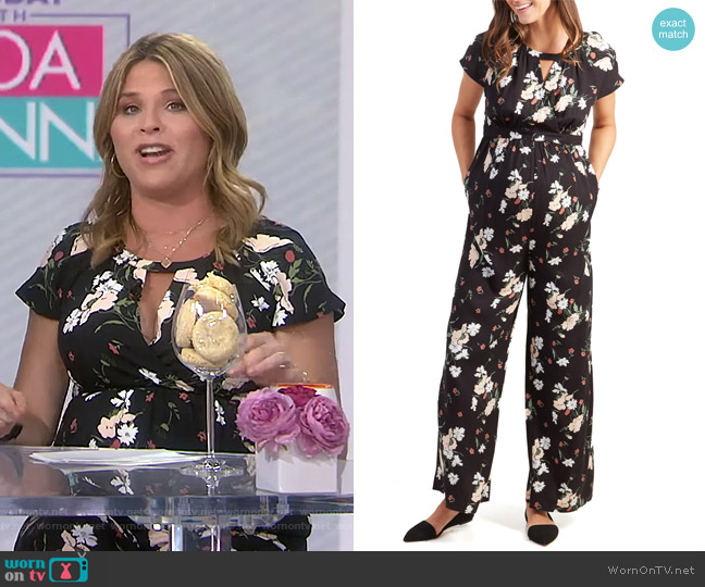Wide Leg Jumpsuit by Ingrid & Isabel worn by Jenna Bush Hager  on Today