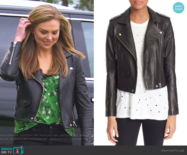 Ashville Jacket by IRO worn by Hannah Brown  on The Bachelorette