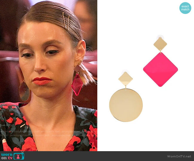 Isabel Marant Asphalt Mismatched Earrings worn by Whitney Port  on The Hills New Beginnings