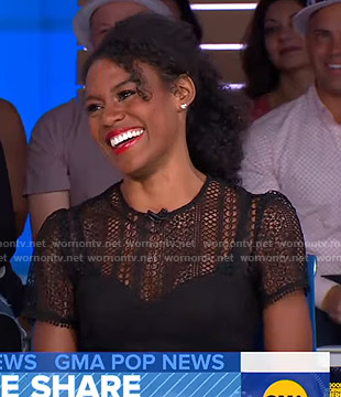 Janai's black lace dress on Good Morning America