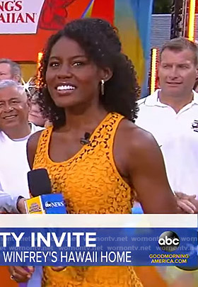 Janai's orange lace dress on Good Morning America