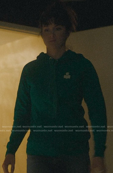 Jane's green hoodie on Big Little Lies