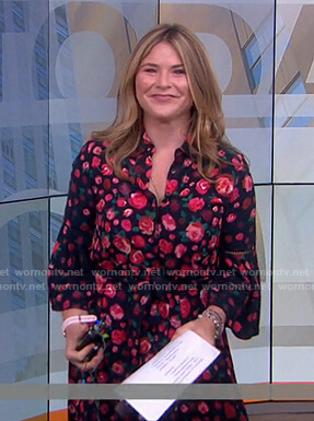 Jenna's black floral shirtdress on Today