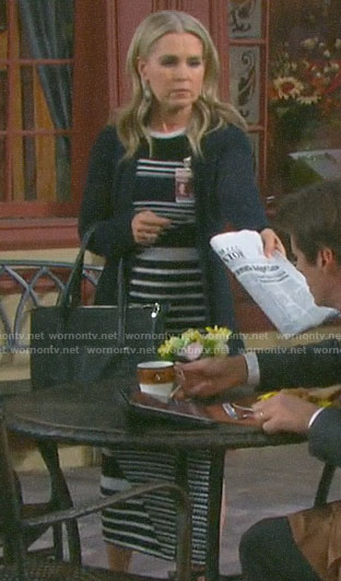 Jennifer's striped midi dress on Days of our Lives