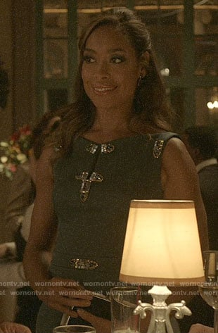 Jessica's embellished dress on Pearson