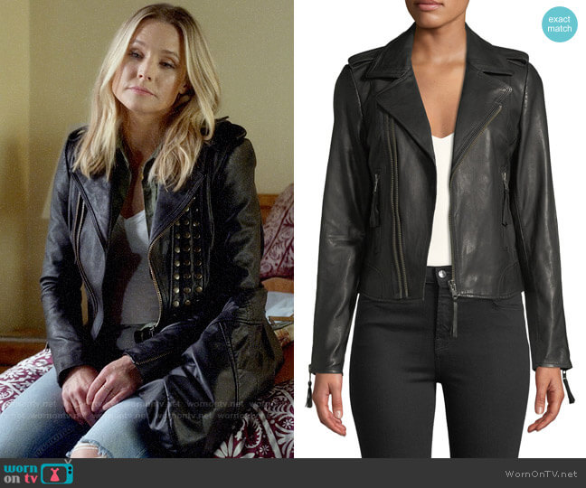 Joie Ailey Leather Jacket worn by Veronica Mars (Kristen Bell) on Veronica Mars