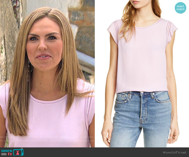 Yeira Shell Top by Joie worn by Hannah Brown  on The Bachelorette
