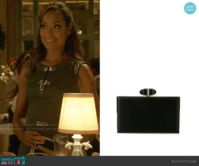 Judith Leiber Satin Coffered Rectangle Clutch Bag worn by Jessica Pearson (Gina Torres) on Pearson
