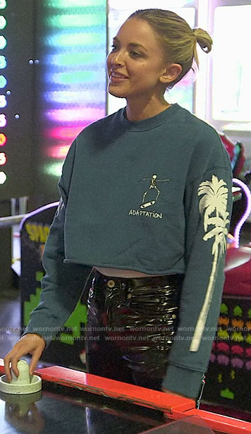 Kaitlynn's cropped ADAPTATION sweatshirt on The Hills New Beginnings