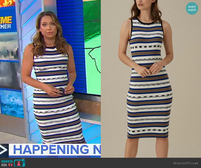 Striped Rib Dress by Karen Millen worn by Ginger Zee  on Good Morning America