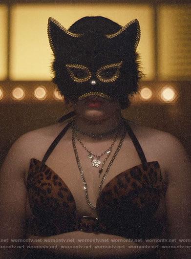 Kat's leopard bra on Euphoria