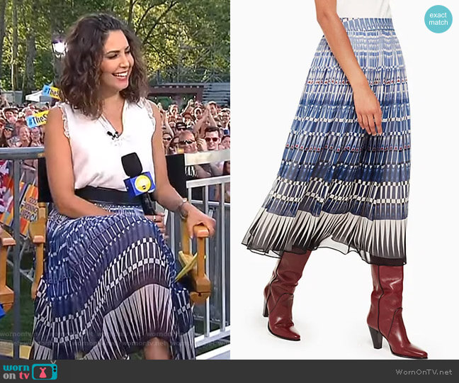 Deco Beale Skirt by Kate Spade worn by Cecilia Vega  on Good Morning America