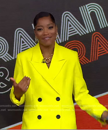 Keke's yellow blazer on GMA Strahan And Sara