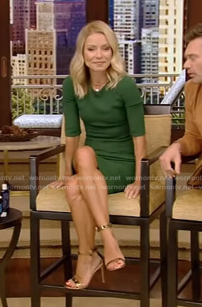 Kelly's green dress on Live with Kelly and Ryan
