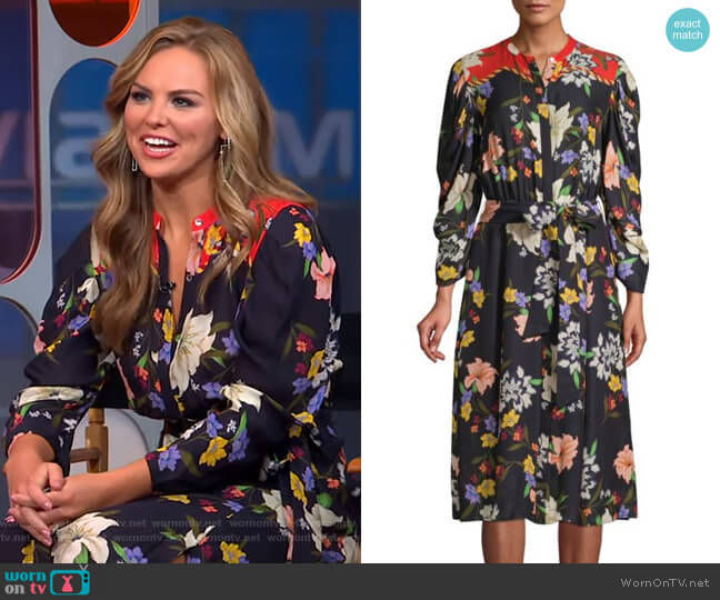 Leila Shirtdress by Kobi Halperin worn by Hannah Brown  on Good Morning America