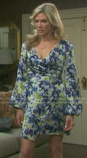 Kristen/Nicole's floral faux wrap dress on Days of our Lives