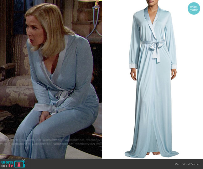 La Perla Airy Blooms Long Robe worn by Brooke Logan (Katherine Kelly Lang) on The Bold & the Beautiful