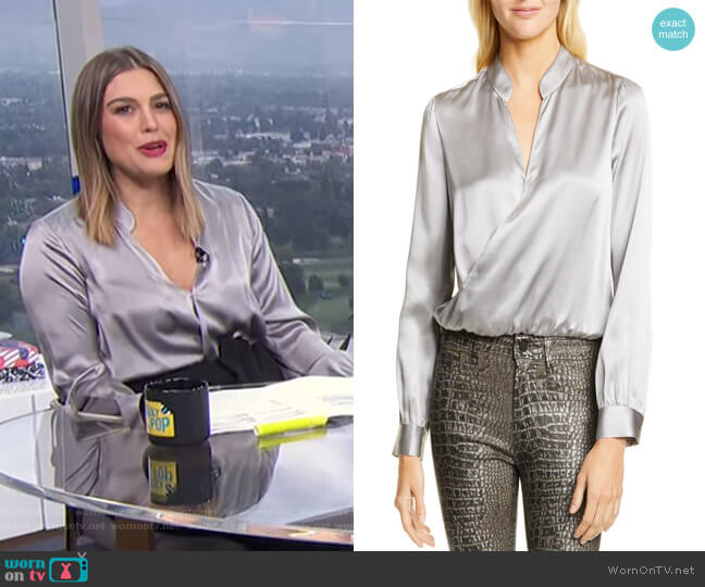 Marcella Bodysuit by L'Agence worn by Carissa Loethen Culiner  on E! News