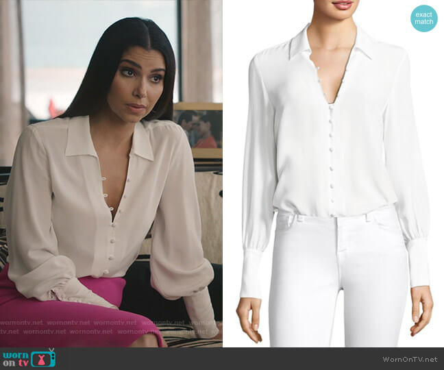 Naomi Blouse by L'Agence worn by Gigi Mendoza (Roselyn Sánchez) on Grand Hotel