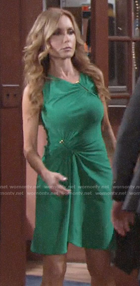 Lauren's green dress on The Young and the Restless