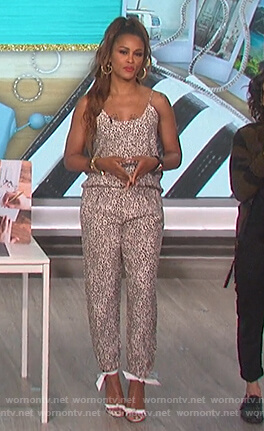 Eve's leopard print cami and pants on The Talk