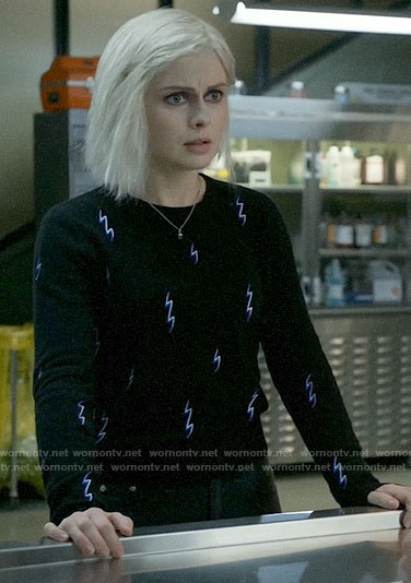 Liv's lightning bolt sweater on iZombie