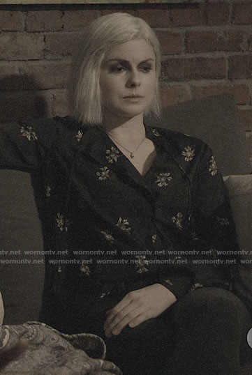 Liv's black floral blouse on iZombie