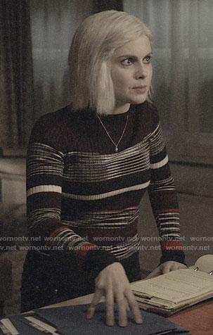 Liv's mixed stripe sweater on iZombie