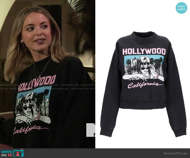 Local Authority Hollywood Sweatshirt worn by Kaitlynn Carter  on The Hills New Beginnings